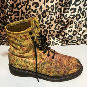 Yellow Floral Doc Martens